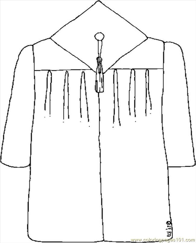 Graduation Gown Coloring Pages Coloring Pages Graduation Cap And Gown Coloring Pages