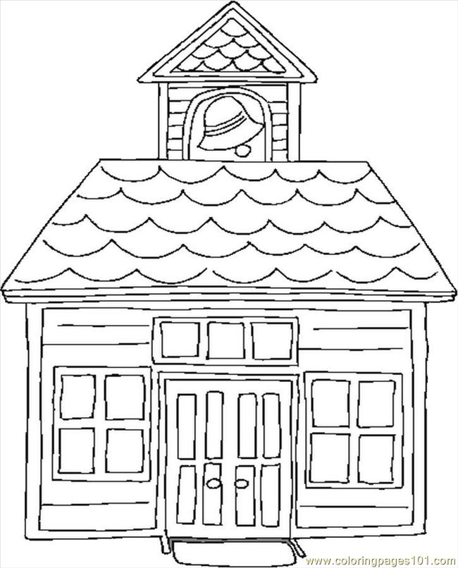 coloring pages school house education gt school free