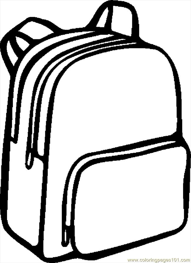 backpack coloring page backpack para colorear imagui