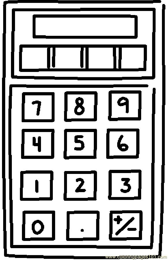 a calculator Colouring Pages
