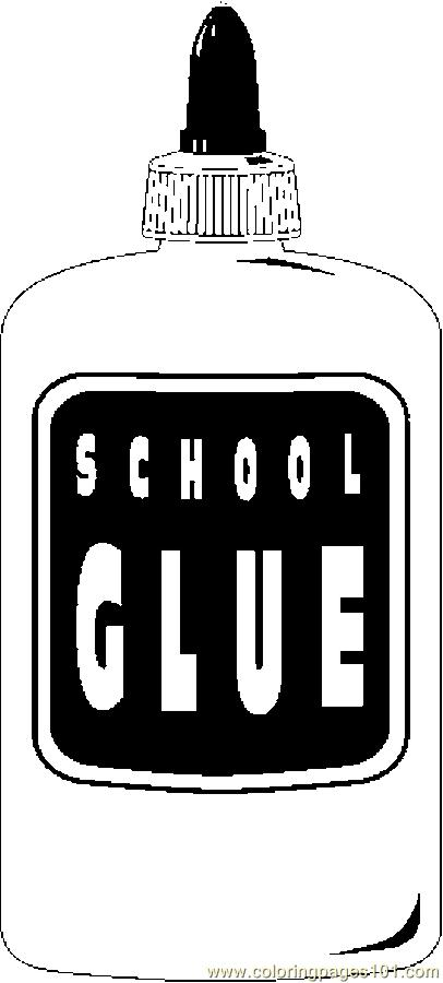glue bottle coloring pages | Coloring Pages Glue 01 (Education > School) - free ...