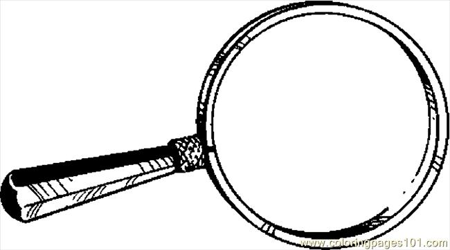 Coloring Pages Magnifying Glass 04 Education Gt School