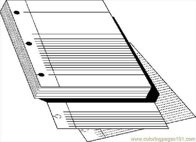 Coloring Pages Notebook Paper 4 Education Gt School Paper Coloring Pages