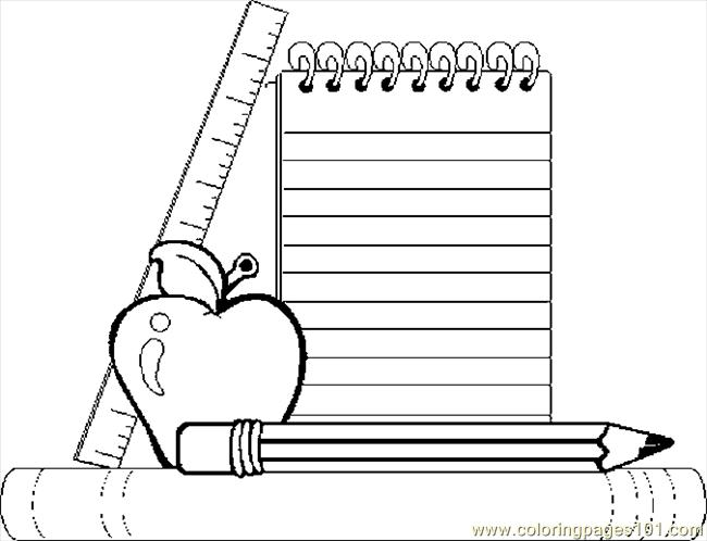 coloring pages school items - photo#32