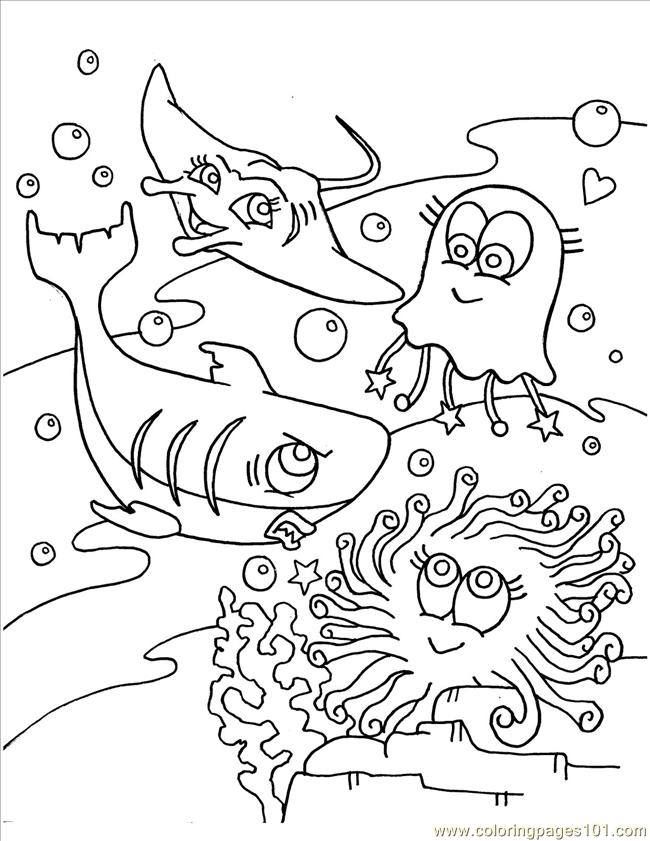 ocean animals plants coloring pages - photo#1