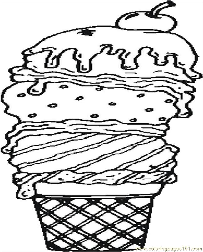 Coloring Pages Ice Cream Natural World Gt Seasons