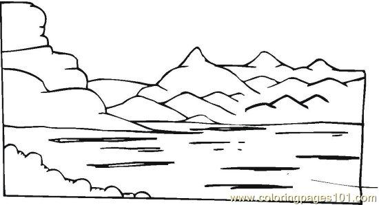 Lake animal coloring pages coloring pages for Lake coloring pages