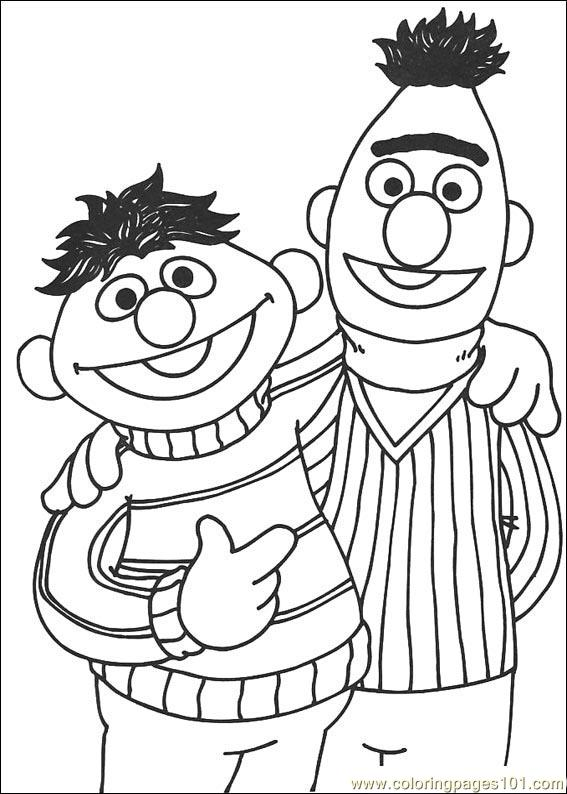 Free Colour Bert Coloring Pages