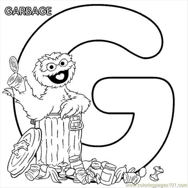 coloring pages sesamestreet coloring g oscar cartoons sesame street free printable