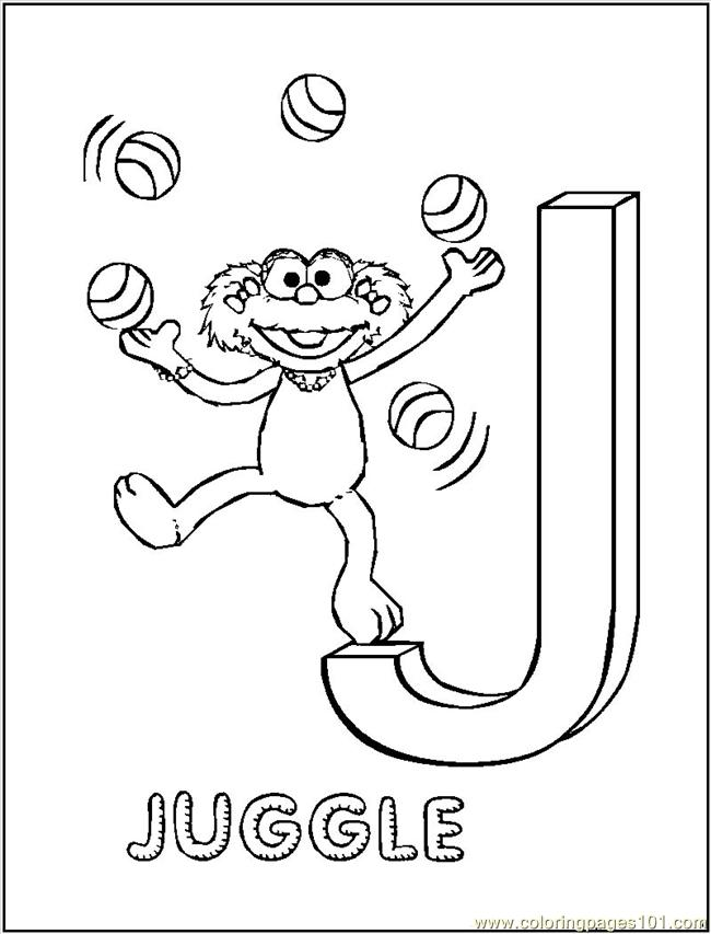 j coloring pages printable - photo #35