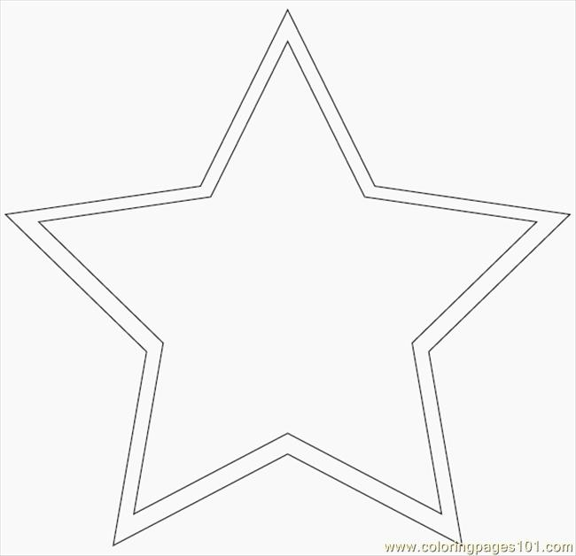 free printable coloring page main star pattern education shapes