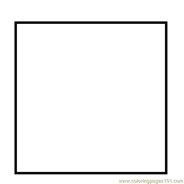 Simple square shape coloring page Free Printable