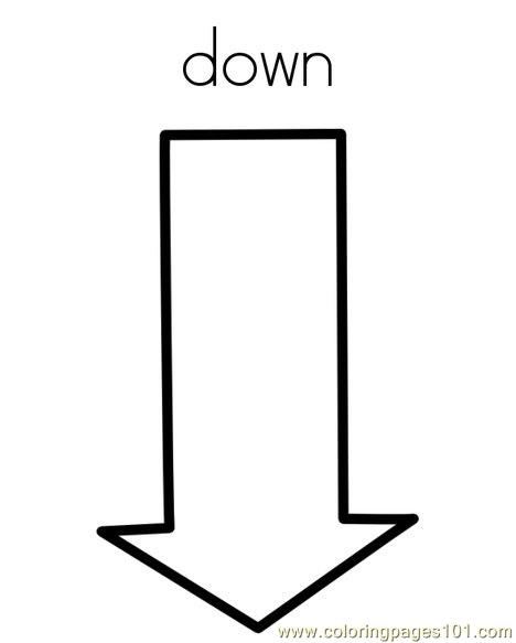 Coloring Pages Down Arrow Education