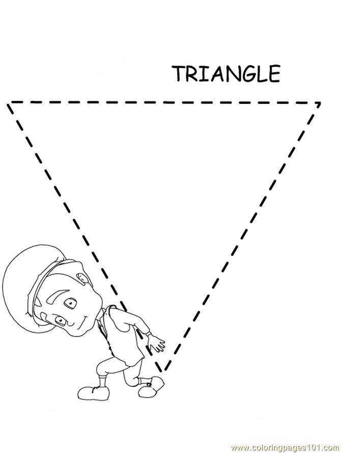 Free Coloring Pages Of Tracing Triangles Triangle Coloring Page