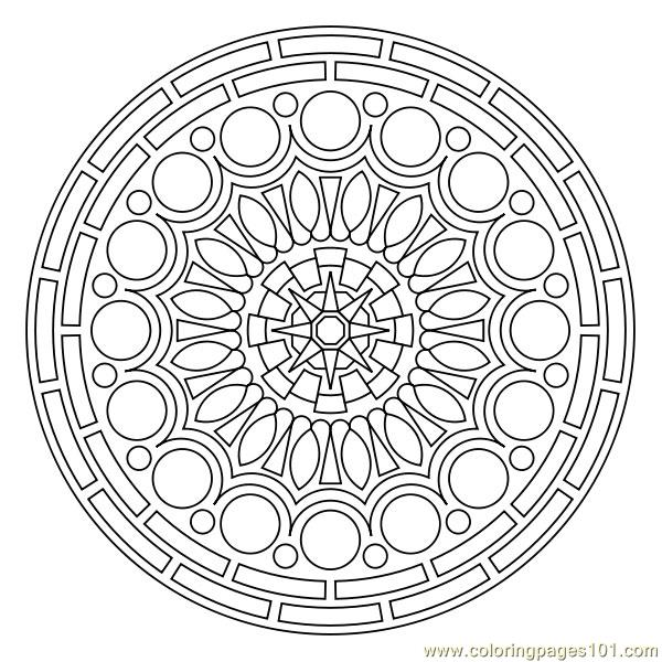Small Circles Coloring Page Free Printable Pages
