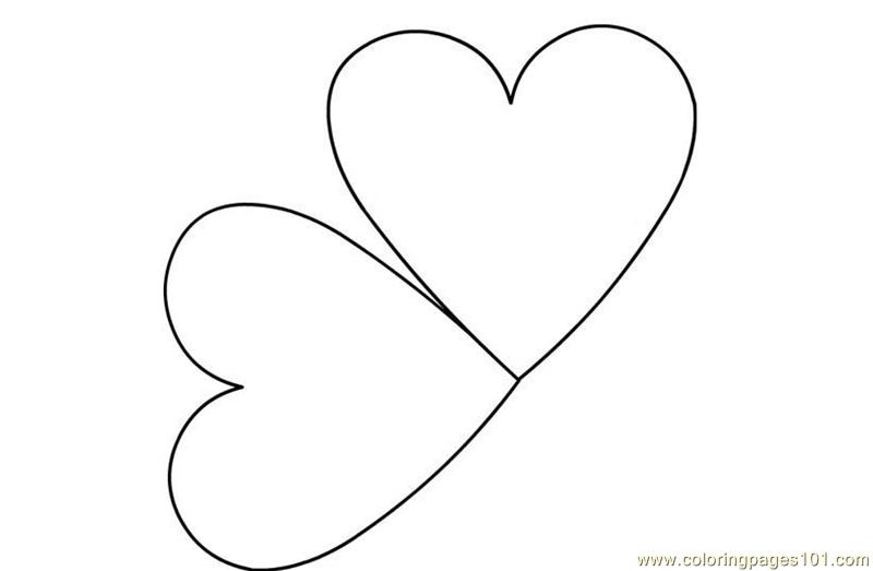 Coloring Page Heart Shape