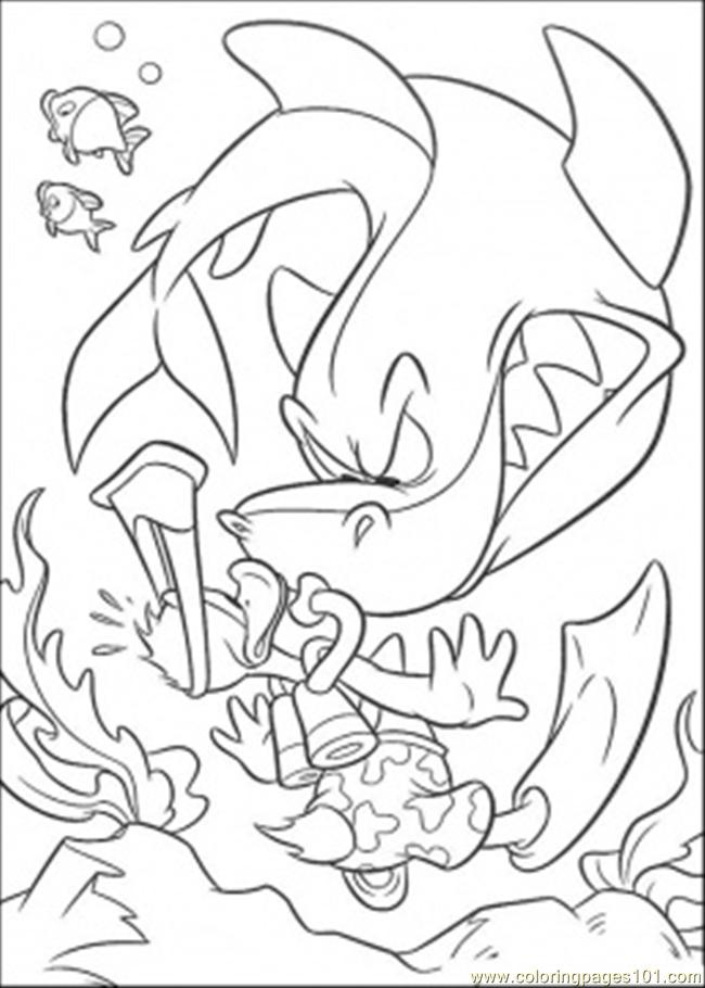 Coloring Pages Shark12 Fish gt