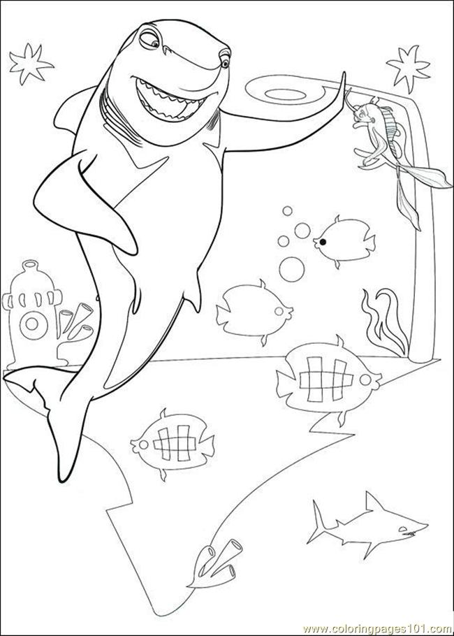 disney shark tale coloring pages - photo #23