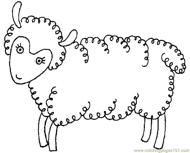 Coloring Pages Cute baby sheep