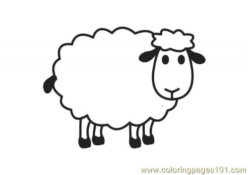 Coloring Pages Sheep Mammals gt
