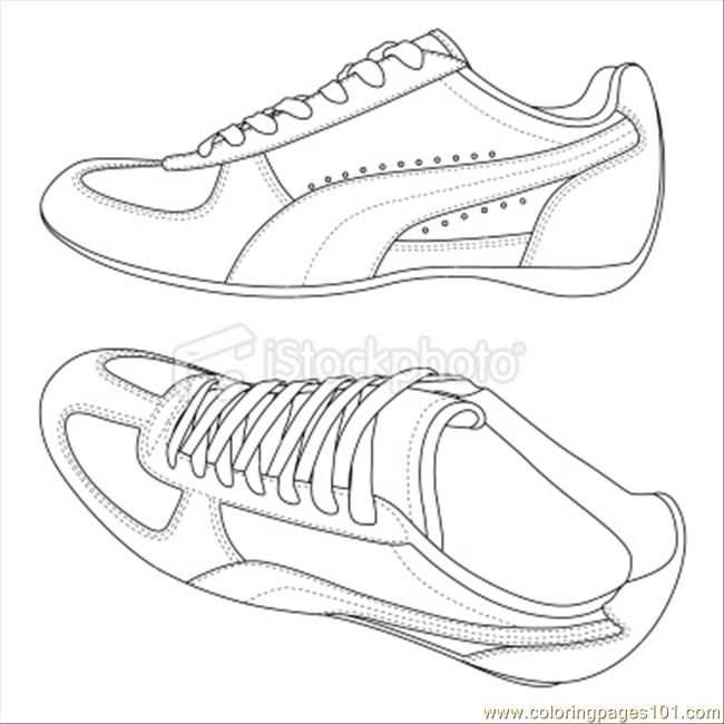Vans Shoes Coloring Pages
