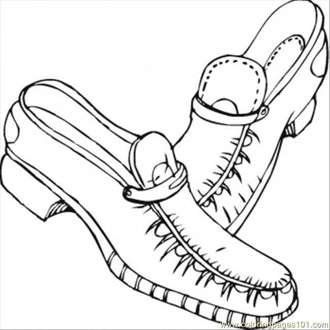 coloring book pages of shoes - photo#21