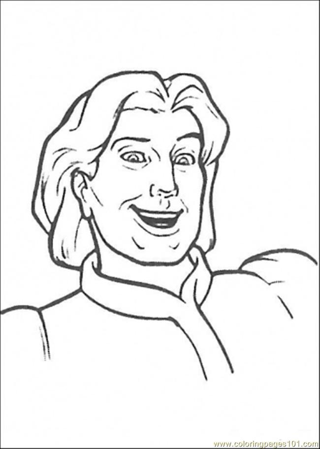 Coloring Pages Prince Charming Cartoons Gt Shrek Free Prince Coloring Pages