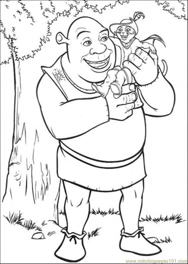 Coloring Pages Shrek And Puss Cartoons Gt Shrek