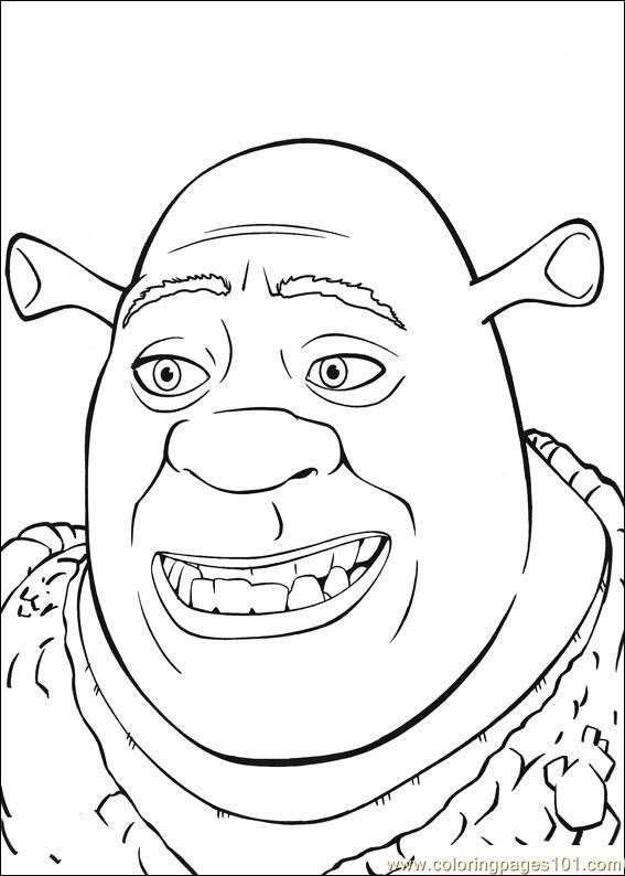 shrek the third printable coloring pages   Coloring Pages Shrek 3 01 (Cartoons > Shrek the Third ...