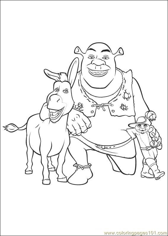shrek 3 coloring pages - photo#4