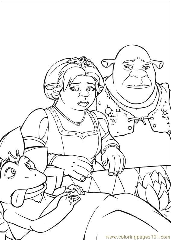 shrek 3 coloring pages - photo#11