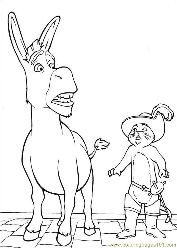 shrek 3 coloring pages - photo#9