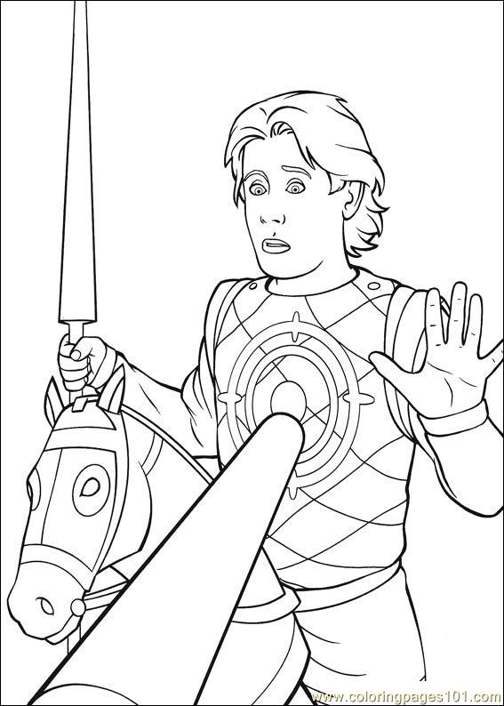 shrek the third coloring pages - shrek 3 29
