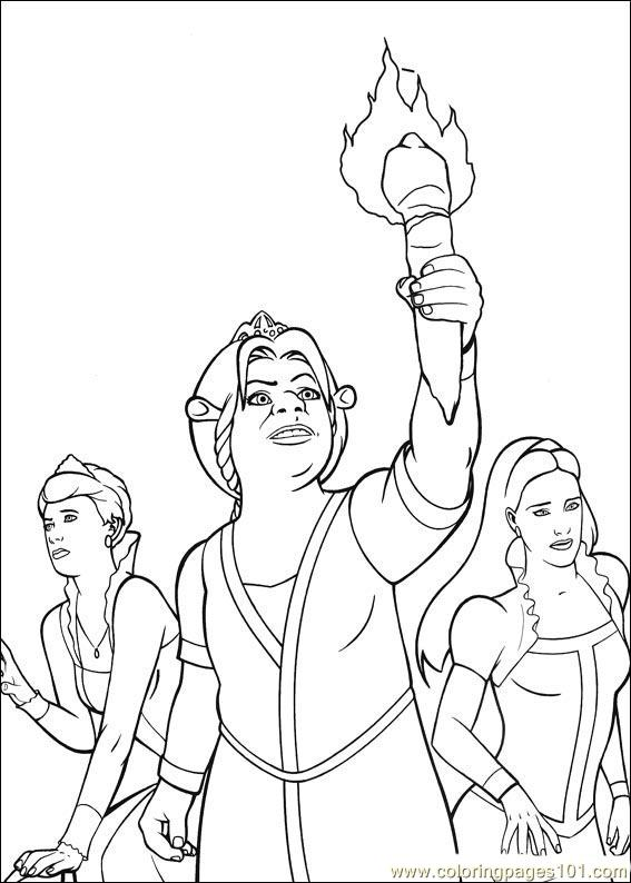 shrek the third printable coloring pages   Coloring Pages Shrek 3 33 (Cartoons > Shrek the Third ...