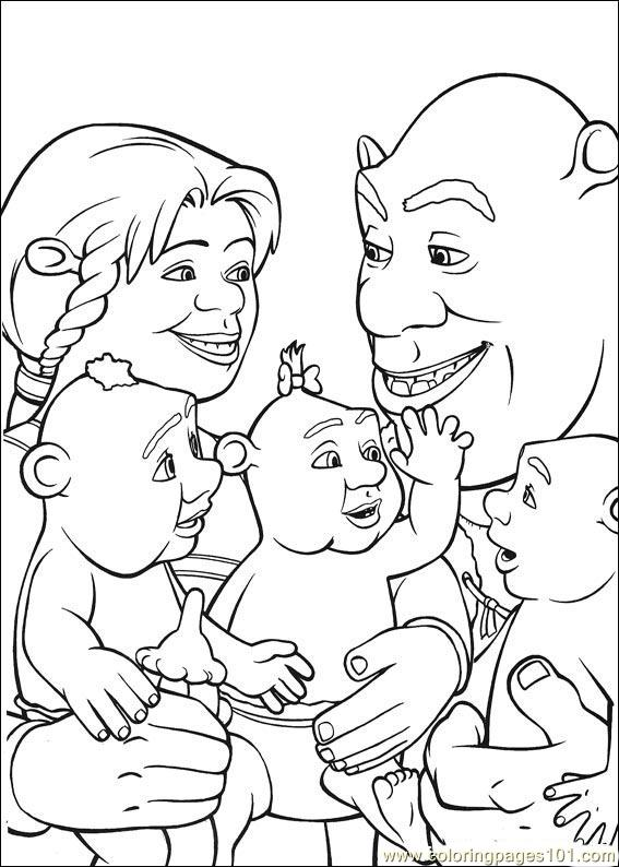 shrek babies coloring pages - photo#17