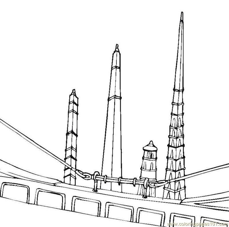 golden gate coloring pages - photo#33