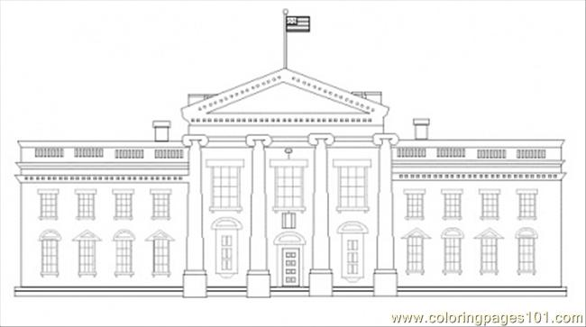 Coloring Pages White House Architecture Gt Sightseeing White House Coloring Page