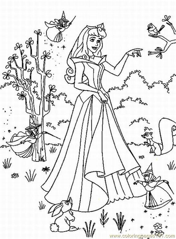 Coloring pages sleeping beauty 57 cartoons sleeping for Sleeping beauty coloring pages to print