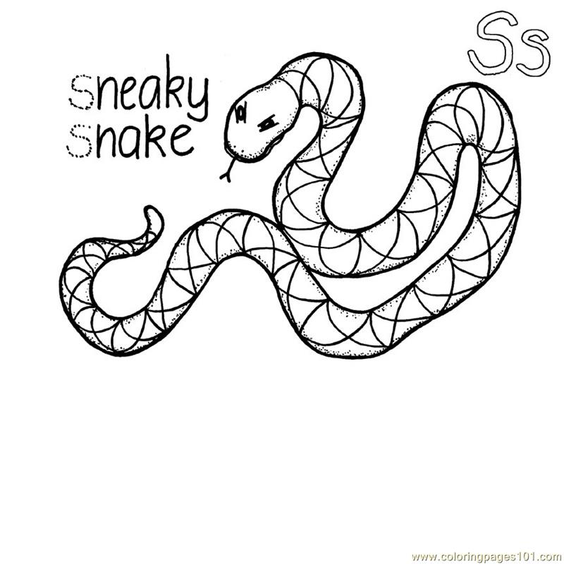 Coloring Pages Snake Reptile Gt Snake