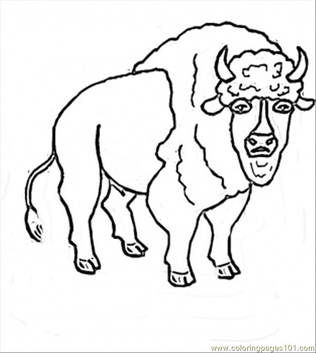 Bison Printable Coloring Pages
