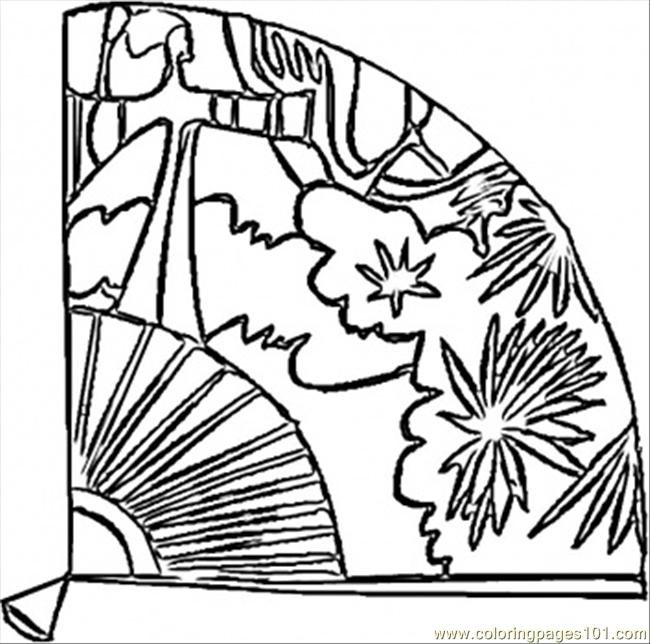 Fan Pictures to Color Spanish Fan Coloring Page