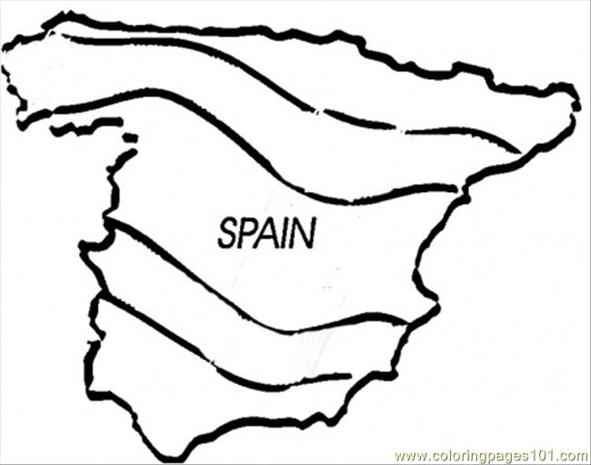 Coloring Pages Map Of Spain Countries