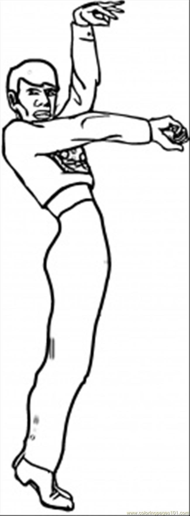 Coloring Pages Spanish Man Dancer