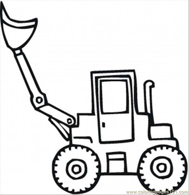 Coloring Pages Scoop Shovel For The Snow Transport