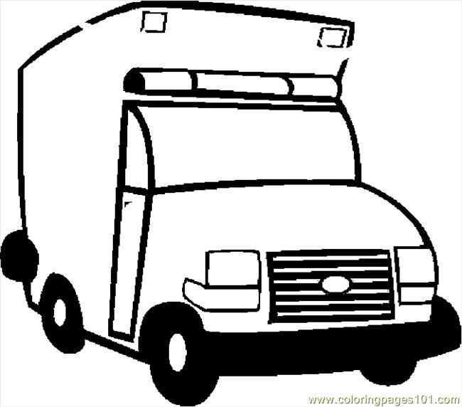coloring pages ambulance 07 transport special transport