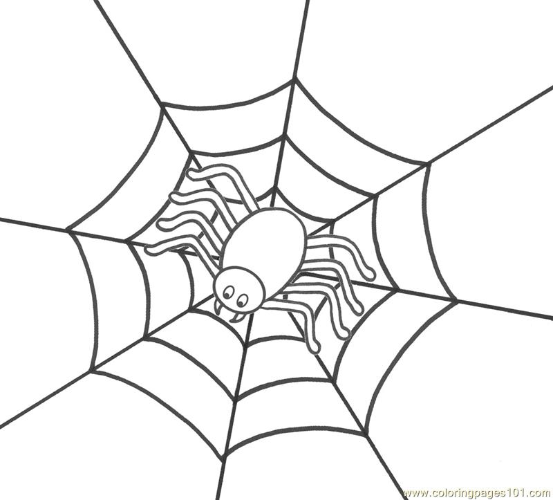 Spiders Free Coloring Pages Coloring Spider