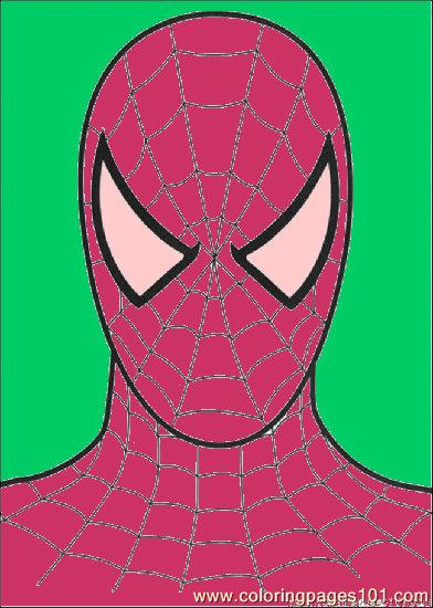 free printable coloring page Head Of Spiderman (Cartoons > Spiderman)