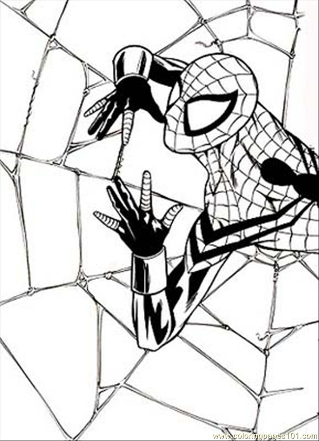 ... %2b(2) (Cartoons > Spiderman) - free printable coloring page online