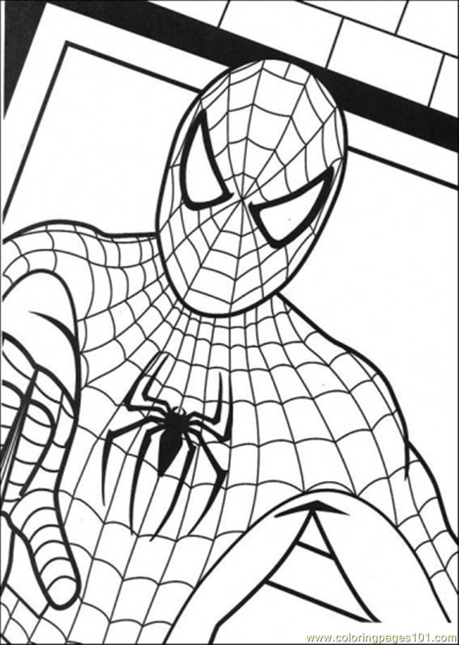 coloring pages picture of spiderman cartoons spiderman