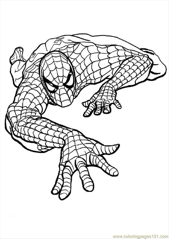 mini coloring pages spiderman - photo#17